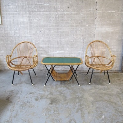 3 seating groups from the sixties by unknown designer for Rohé Noordwolde