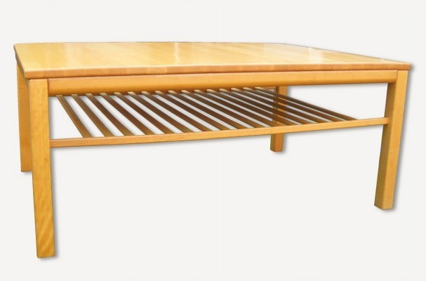 Haslev 429 coffee table from the eighties by unknown designer for Haslev Møbelsnedskeri