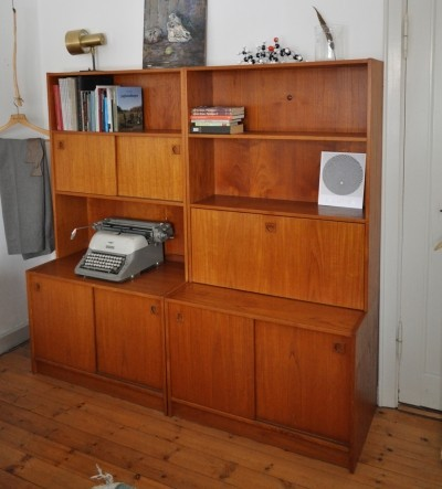 3 units in the set cabinet from the sixties by unknown designer for unknown producer