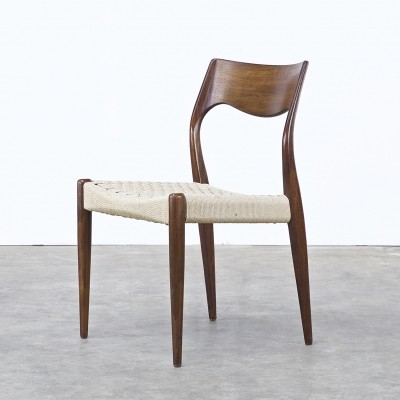 Set of 4 dinner chairs from the sixties by Niels Otto Møller for J L Møller