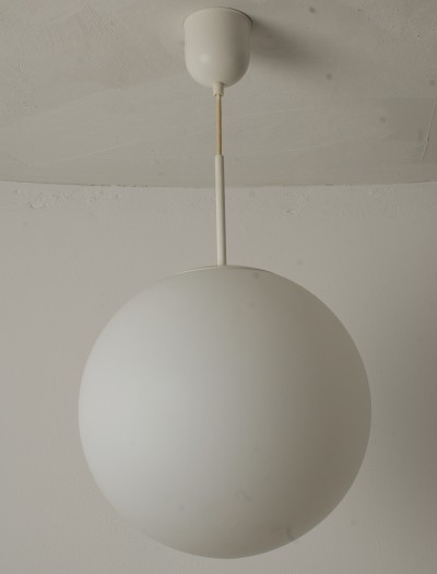 4 hanging lamps from the fifties by unknown designer for Glashutte Limburg