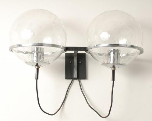 2 Saturnus wall lamps from the sixties by Raak Design Team for Raak Amsterdam