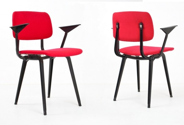 12 x Revolt dinner chair by Friso Kramer for Ahrend de Cirkel, 1940s
