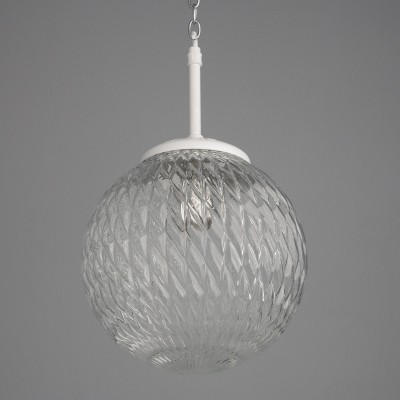 3 hanging lamps from the seventies by unknown designer for unknown producer