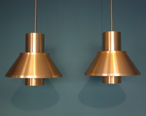 Set of 2 Life hanging lamps from the sixties by Jo Hammerborg for Fog & Mørup