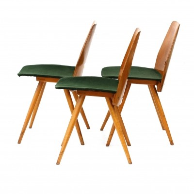 Set of 3 Model 22 - 19 dinner chairs from the sixties by unknown designer for Tatra Nabytok NP