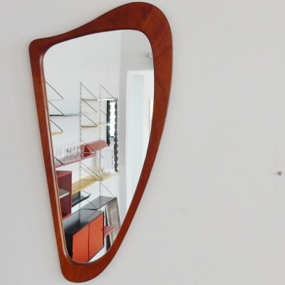 Harp mirror from the sixties by unknown designer for unknown producer