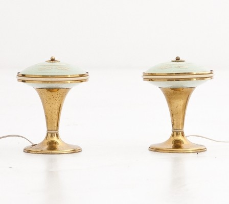 Set of 2 desk lamps from the forties by unknown designer for unknown producer