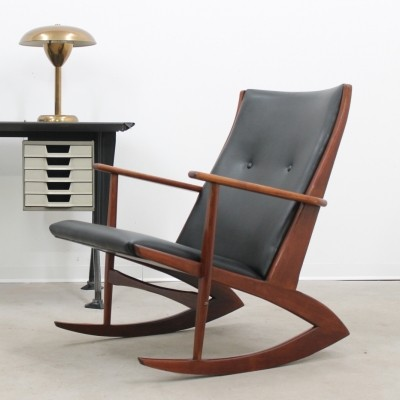 Atomic 97 rocking chair from the fifties by Holger Georg Jensen for Kubus