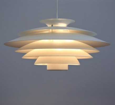 Hanging lamp from the seventies by unknown designer for Jeka Metaltryk