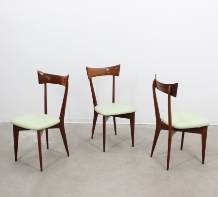 3 dinner chairs from the forties by unknown designer for Ico Parisi