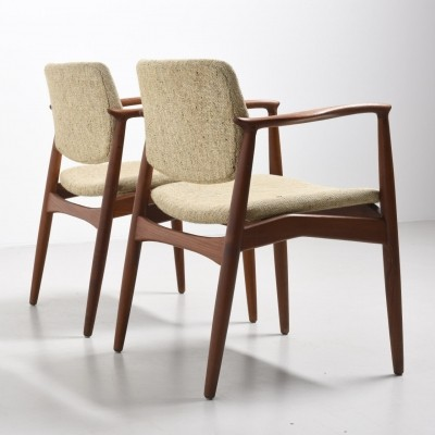 2 Model 67A arm chairs from the fifties by Erik Buck for Ørum Møbler