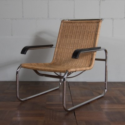 B 35 arm chair from the twenties by Marcel Breuer for Thonet