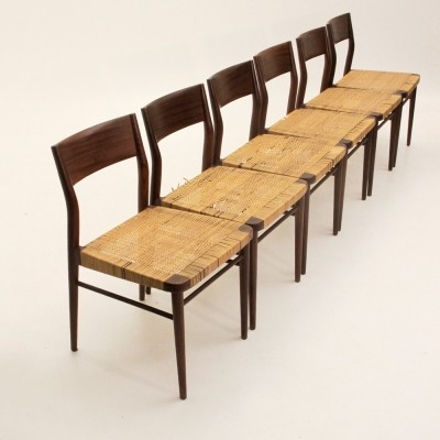 Set of 6 Model 351 dinner chairs from the fifties by Georg Leowald for Wilkhahn