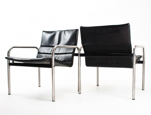 2 lounge chairs from the seventies by J. B. Meyer for Kembo