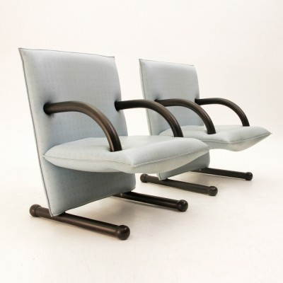 Set of 2 T-Line arm chairs from the eighties by Burkhard Vogtherr for Arflex