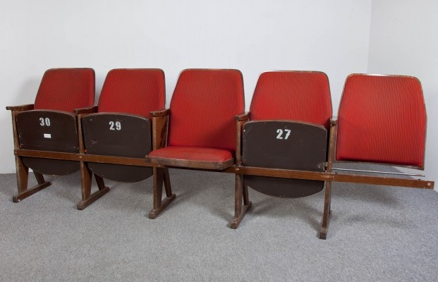 Set of 100 benches from the sixties by unknown designer for unknown producer