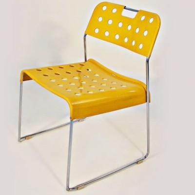 Set of 4 Omstack dinner chairs by Rodney Kinsman for Bieffeplast, 1960s