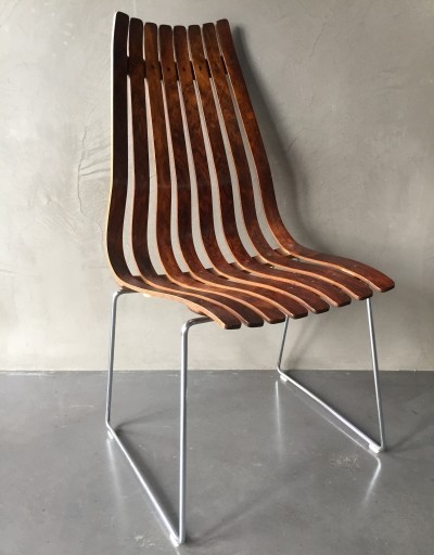 2 x Scandia dining chair by Hans Brattrud for Hove Möbler, 1950s