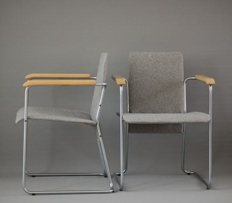 Set of 2 arm chairs from the sixties by Walter Antonis for Spectrum
