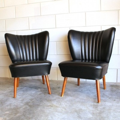 Set of 2 Cocktail lounge chairs from the sixties by unknown designer for unknown producer