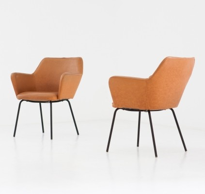10 x Airone arm chair by Gio Ponti & Alberto Rosselli for Arflex, 1950s