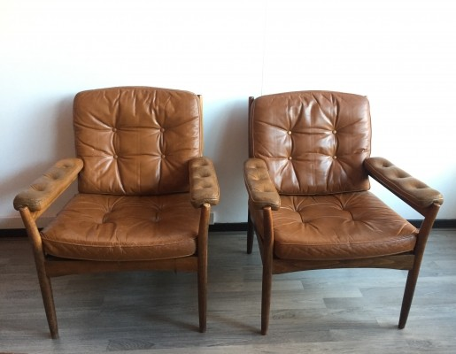 2 lounge chairs from the fifties by unknown designer for G Mobel