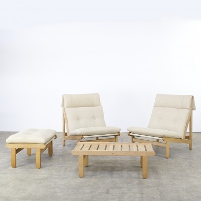 A-Frame seating group from the seventies by Bernt Petersen for Schiang