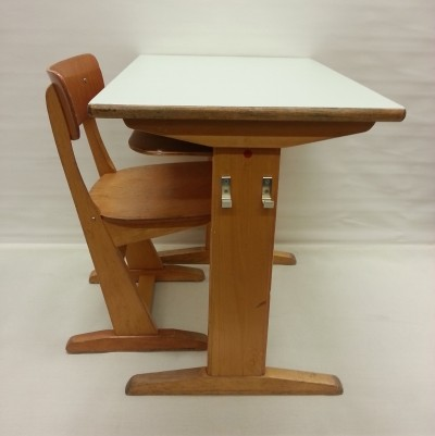 Desk & Chair children furniture from the sixties by C. Sasse for Casala