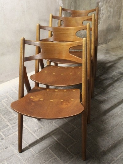 Sawbuck model CH29 dinner chair from the fifties by Hans Wegner for Carl Hansen & Son