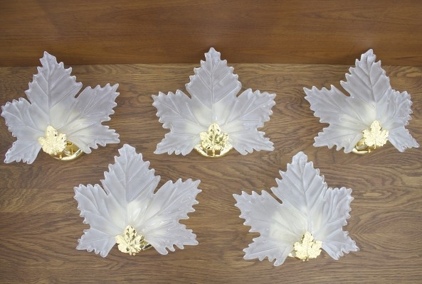 5 wall lamps from the seventies by unknown designer for unknown producer
