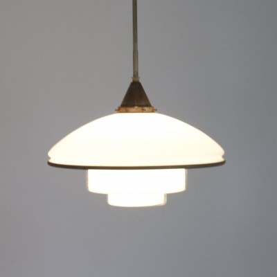 P5 hanging lamp from the twenties by C. F. Otto Müller for Sistrah Licht GmbH