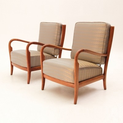 2 arm chairs from the forties by unknown designer for unknown producer