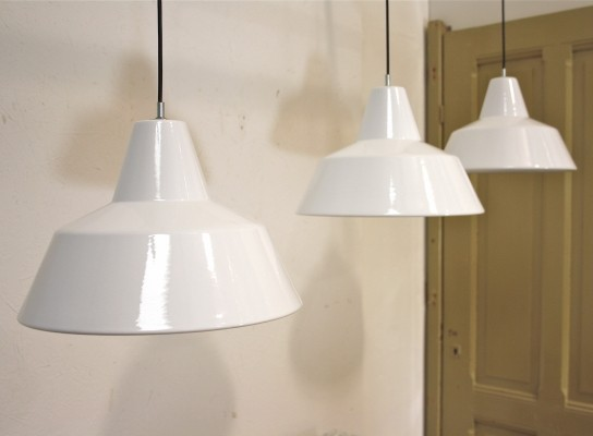 3 hanging lamps from the sixties by unknown designer for Louis Poulsen