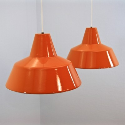 Set of 2 hanging lamps from the sixties by unknown designer for Louis Poulsen