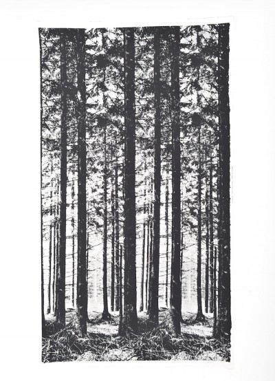 The Pinewood Black Textile wall panel by Ronald Hansen for Grautex