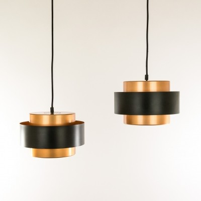 Set of 2 Juno hanging lamps from the sixties by Jo Hammerborg for Fog & Mørup