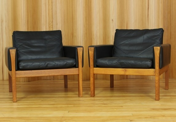 Set of 2 Model AP-62 lounge chairs from the fifties by Hans Wegner for AP Stolen