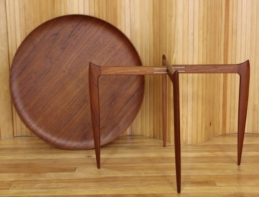 Side table by H. Engholm & Svend Åge Willumsen for Fritz Hansen, 1950s