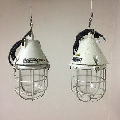 2 hanging lamps from the seventies by unknown designer for unknown producer