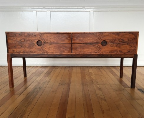 Midcentury Danish Rosewood Low Chest / Cabinet / Commode Model 394 by Aksel Kjersgaard