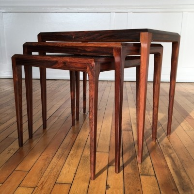 Nesting table from the sixties by Johannes Andersen for CFC Silkeborg