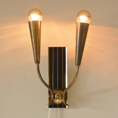 Torch wall lamp from the forties by unknown designer for unknown producer