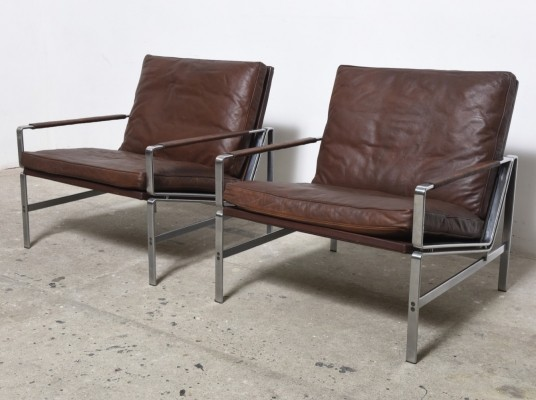 2 PK 6720 lounge chairs from the sixties by Preben Fabricius & Jørgen Kastholm for Kill International