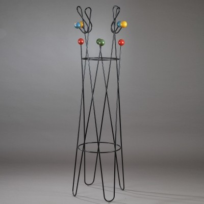 Treble clef coat rack from the fifties by Roger Feraud for unknown producer