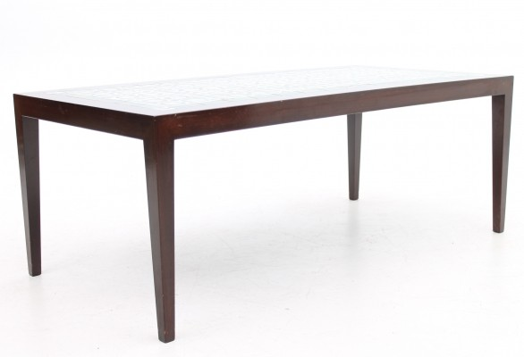 Tiletop model coffee table from the sixties by Severin Hansen Jr for Haslev Møbelsnedskeri