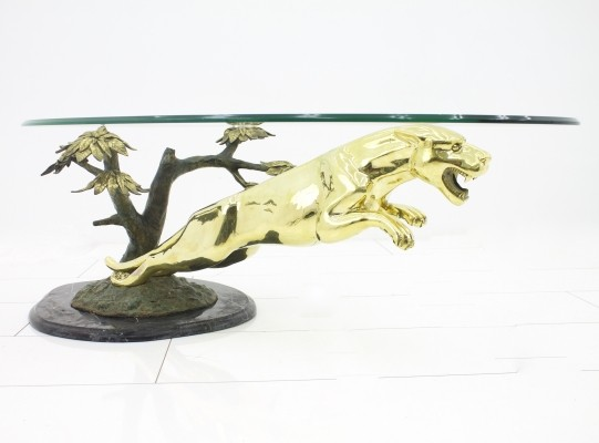 Panther coffee table from the fifties by unknown designer for unknown producer