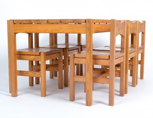 Pine wood 'Hongisto' table set by Ilmari Tapiovaara for Laukaan Puu Finnland