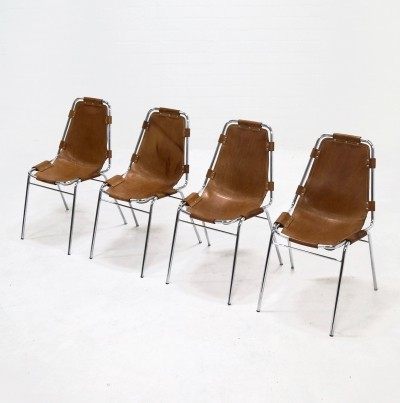 Set of 4 dinner chairs from the sixties by Charlotte Perriand for unknown producer