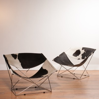 2 Butterfly F675 lounge chairs from the nineties by Pierre Paulin for Artifort